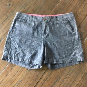 Merona size 6 blue chambray/denim look shorts